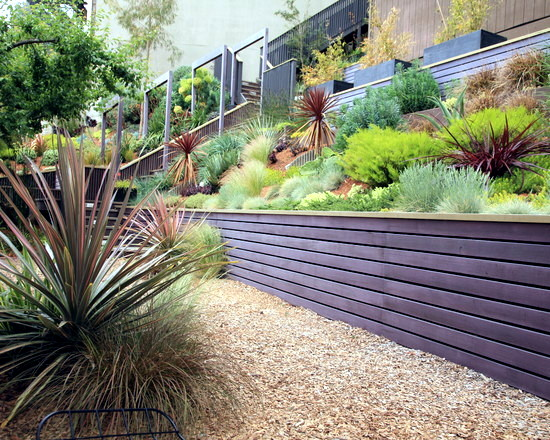 Garden Design On Steep Slopes design on steep slopes build a retaining wall in the for decorating
