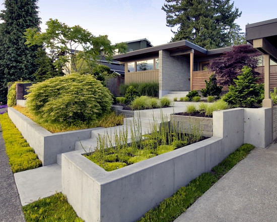79 ideas to build a retaining wall in the garden slope