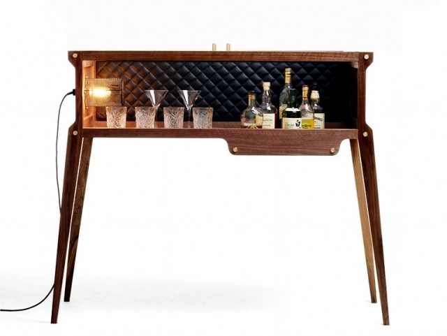 "wooden bar + Buster Punch - A ""Rock Star"" in the house"
