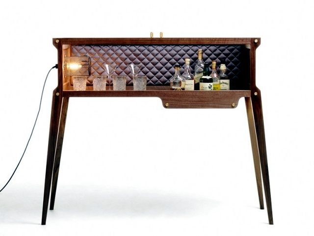 """wooden bar + Buster Punch - A """"Rock Star"""" in the house"""