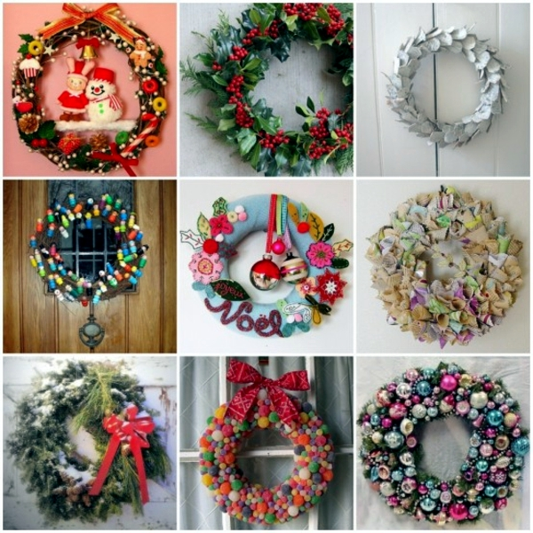 33 ideas to make Christmas wreath for yourself