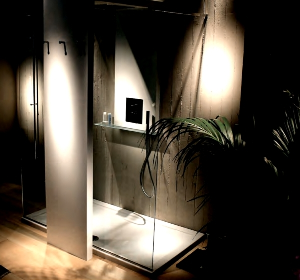 Innovative solutions for the bathroom - shower with built-in heating