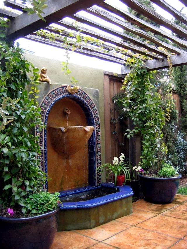 22 ideas for garden fountains as a creative design element in the garden