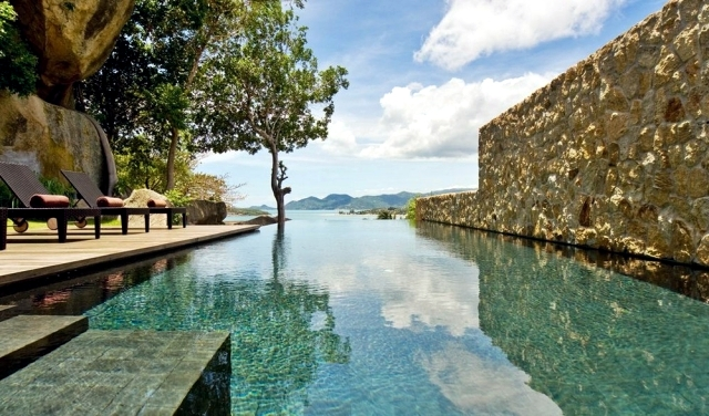Luxury Villa in Thailand, surrounded by woods and rocks