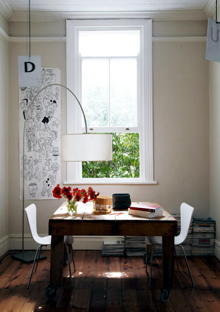 solid dining table on wheels interior design ideas ofdesign. Black Bedroom Furniture Sets. Home Design Ideas