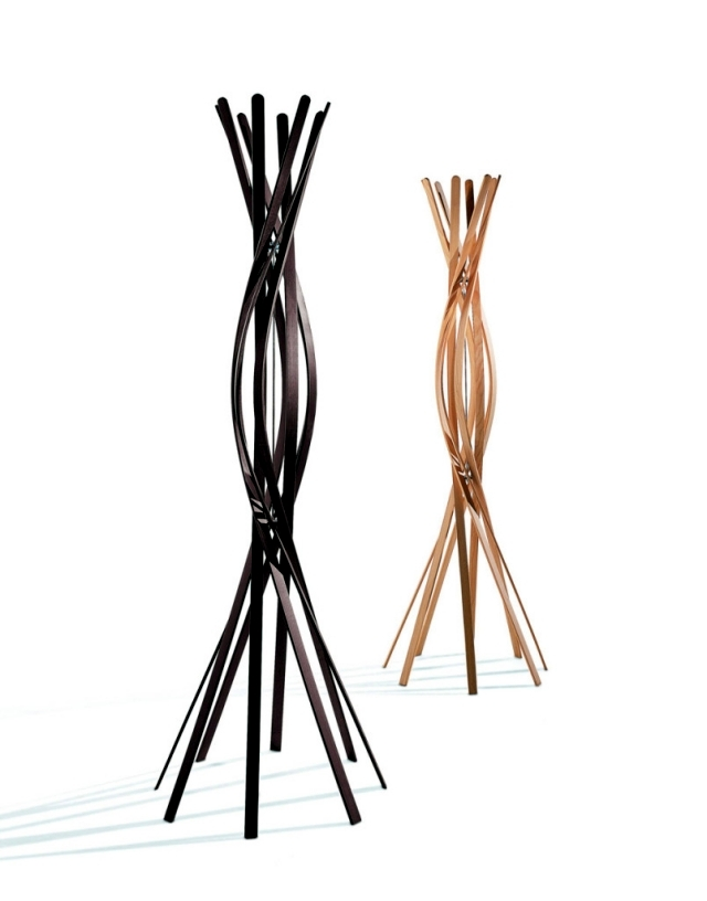 "Designer clothes rack ""Twist"" - A dance beech flower"