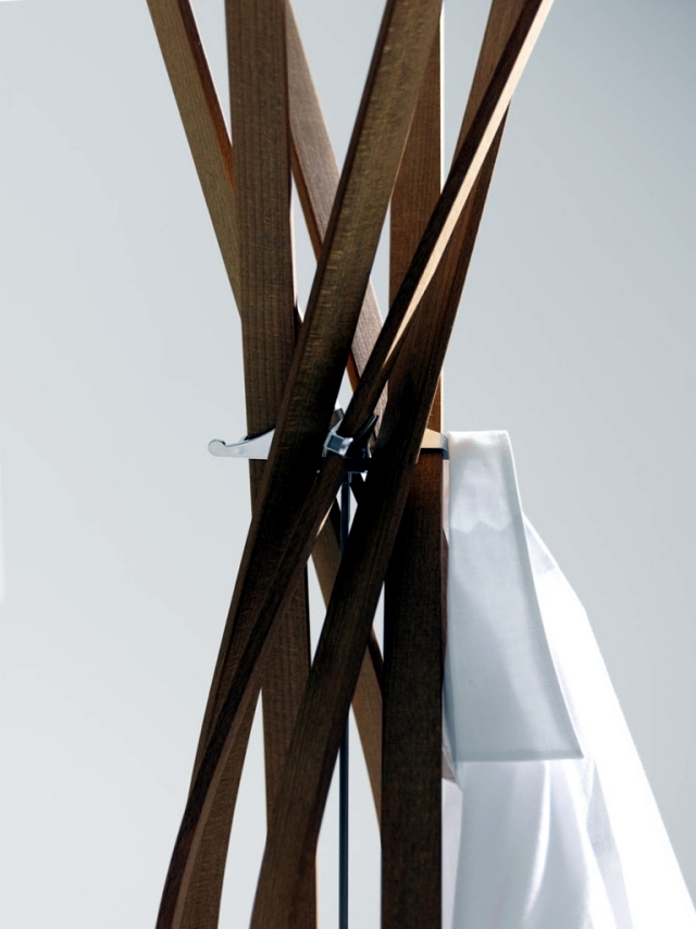 """Designer clothes rack """"Twist"""" - A dance beech flower"""
