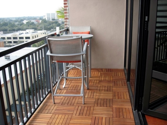 Tiles Wooden Balcony