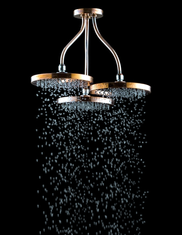 Swarovski Crystals Adorn Modern Bathroom Taps Interior