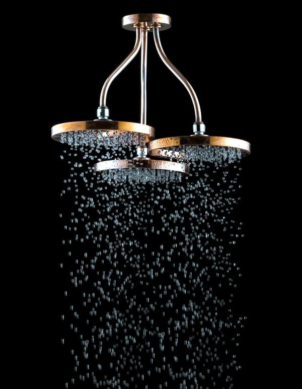 Swarovski Crystals Adorn Modern Bathroom Taps