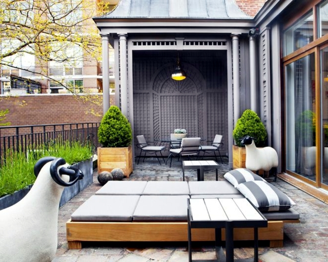 20 original ideas and fresh design for balcony and roof terrace