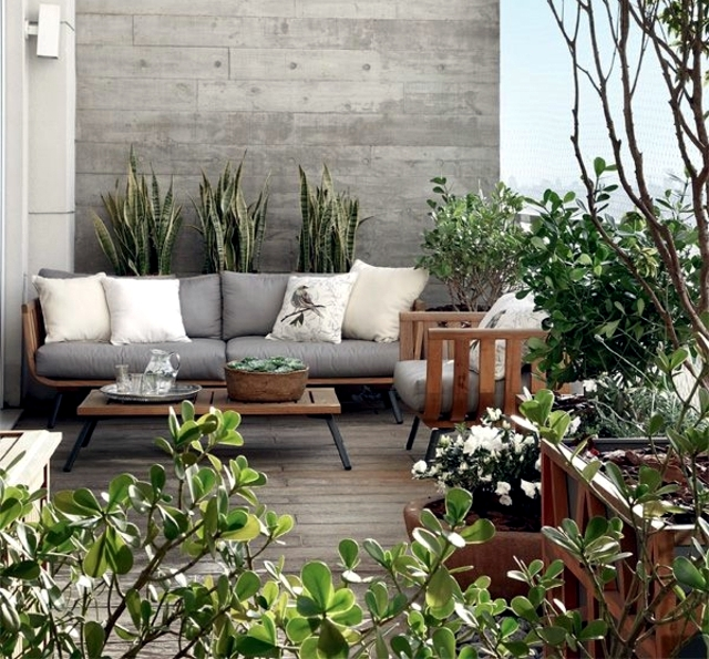 20 original ideas and fresh design for balcony and roof for Outdoor balcony decorating ideas