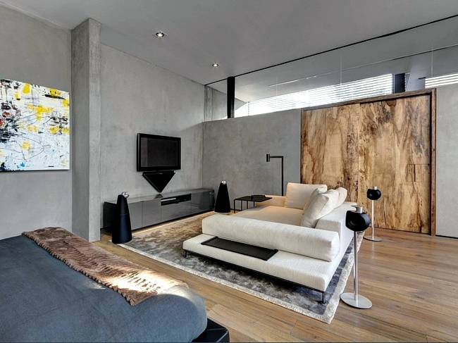 Massive concrete residential house - an oasis of peace and serenity