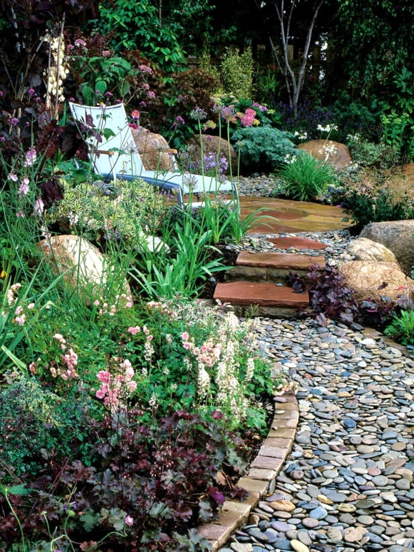 Landscaping With Rocks And Pebbles : For the design of garden with stones in all styles stone