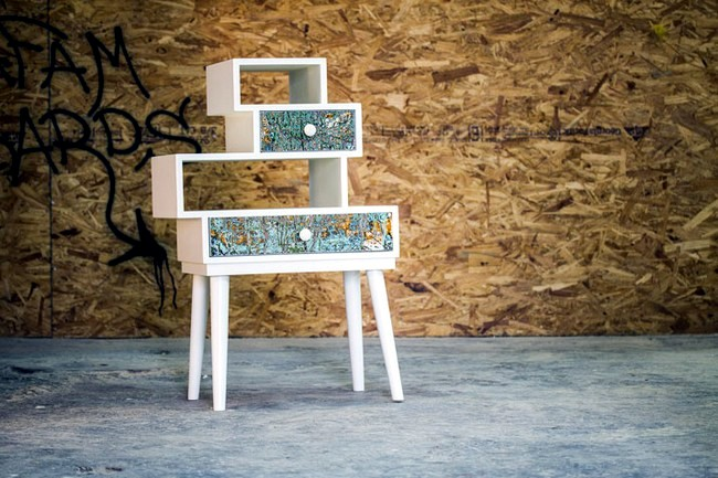 Dyes recycled give old furniture a new glow