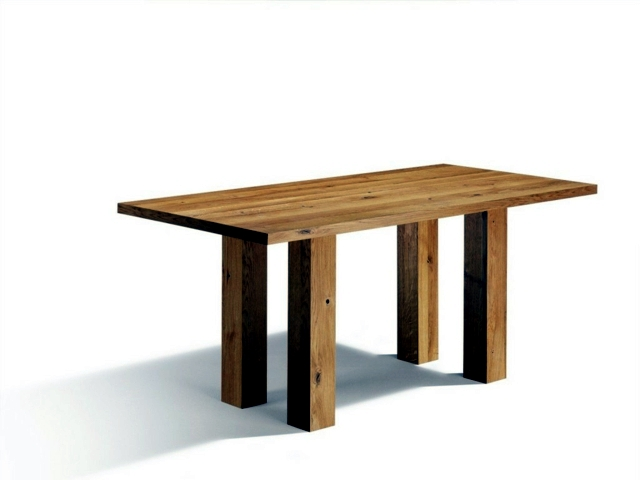 Functional and quality, massive dining table is the trend