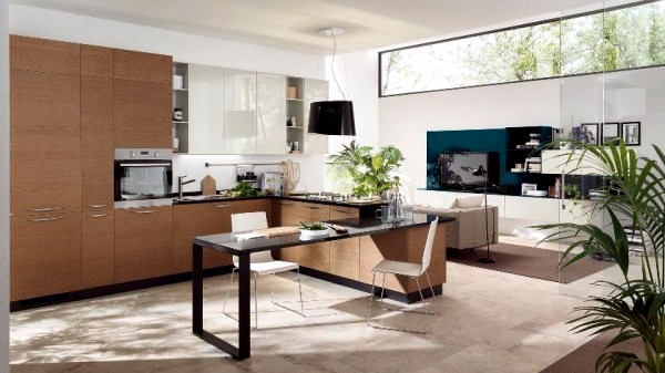 Modern design of scavolini kitchens for small and large for New kitchens for small spaces
