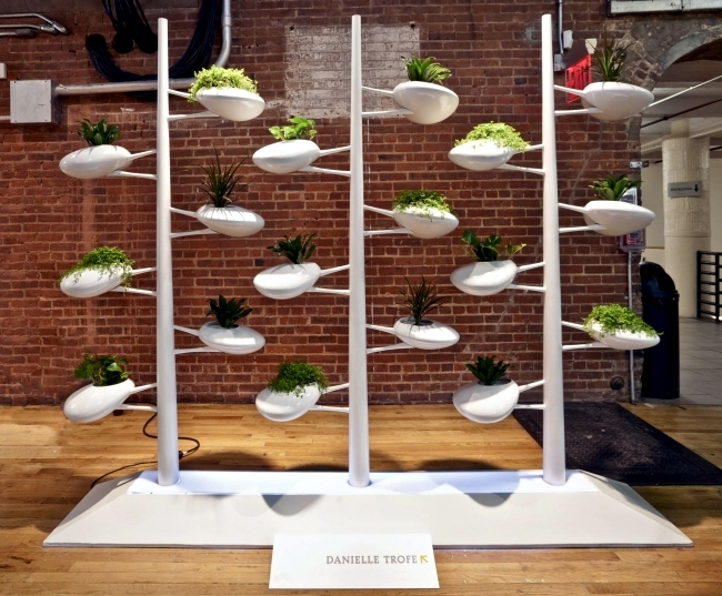 The vertical screen live sustainable garden by Danielle Trofe