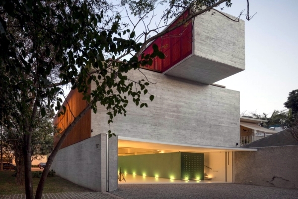 solid concrete house in sao paolo modern architecture in the bauhaus