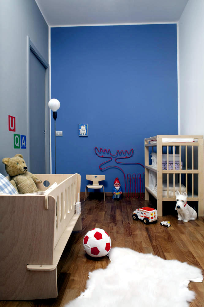 Baby Room With Decorative Front Wall Blue Moose Interior