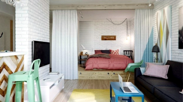 Decorating ideas for small studio apartment | Interior Design ...