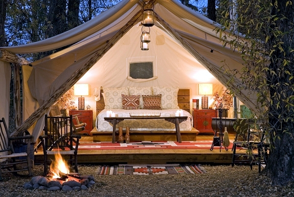 Glamor c&ing in forest & O Glamping glamorous camping holidays luxury safari tents ...