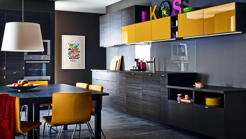 Kitchen With Dark Yellow Accents Interior Design Ideas Ofdesign