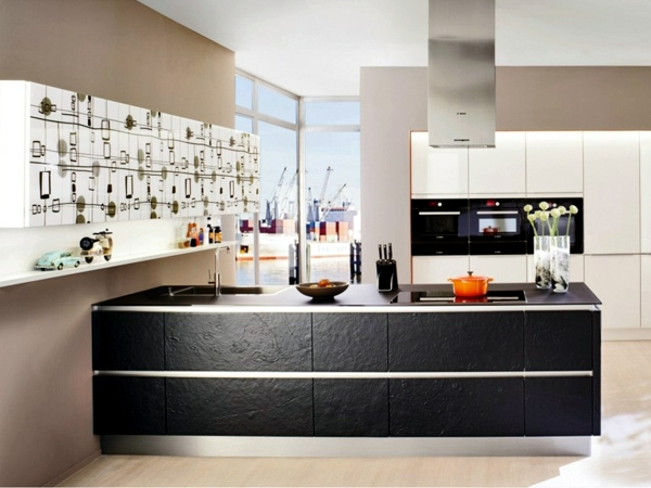 Modern Kitchen Also In 2013 Dominates The Tendency To Seamlessly Connect All Areas Between Them And A Living Pictured Above