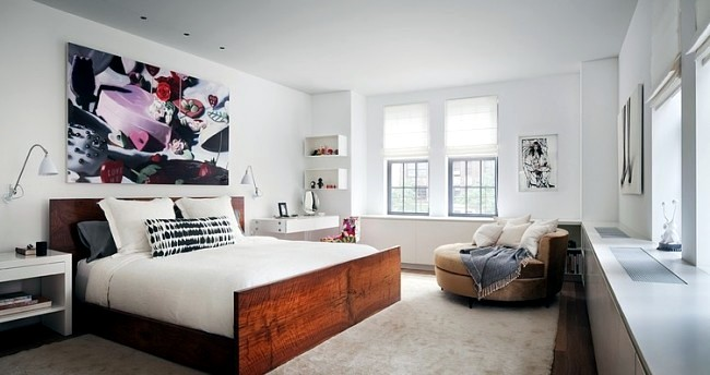 Design apartment in New York Indi Interiors combines art and modernity