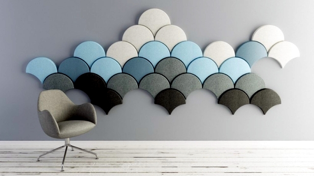 Beautiful Interior Design Ideas For Walls With Decorative Acoustic Panels.
