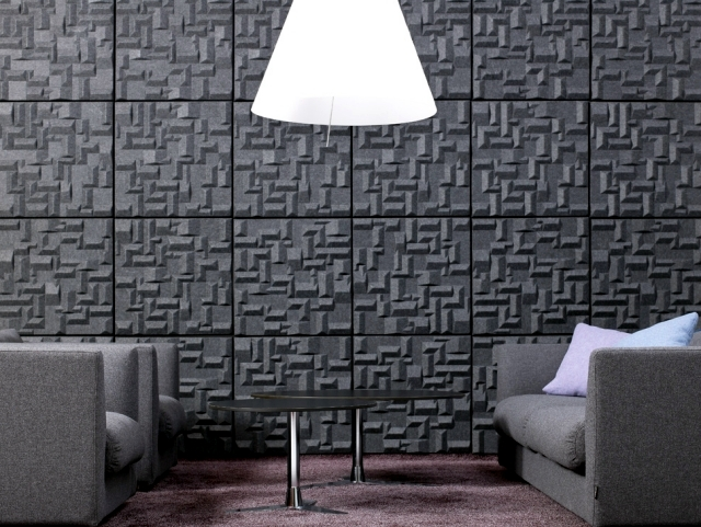 Beautiful interior design ideas for walls with decorative acoustic panels interior design - Decorative acoustic wall panels ...