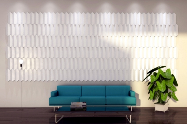 beautiful interior design ideas for walls with decorative acoustic panels - Interior Wall Design Ideas