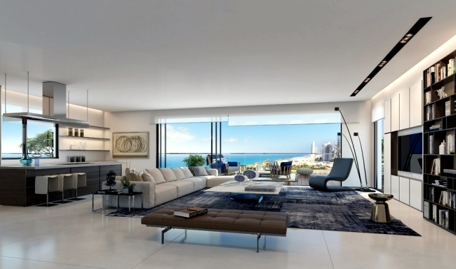 penthouse luxury apartments, shown by Ando Studio