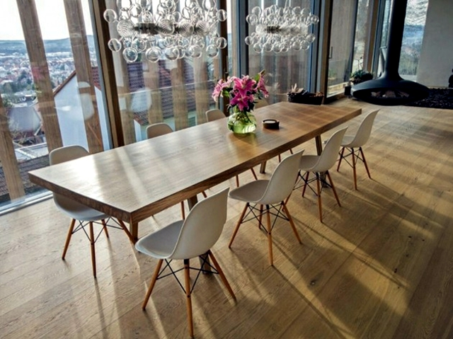 dining table reclaimed wood has a rustic look interior design ideas ofdesign