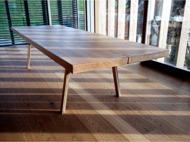 Dining table reclaimed wood has a rustic look