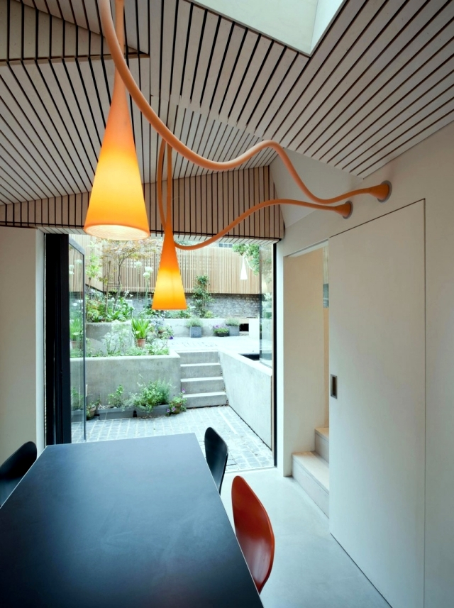 Jewel Box in the extension of the London house with eco environmental concept