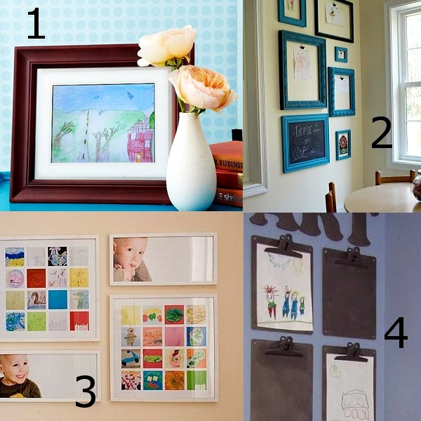 Design ideas creative wall with pictures of children