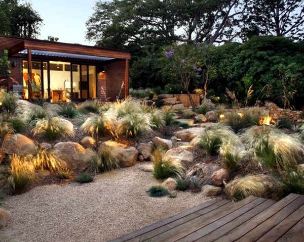 Perennials in the garden - design ideas with pampas grass