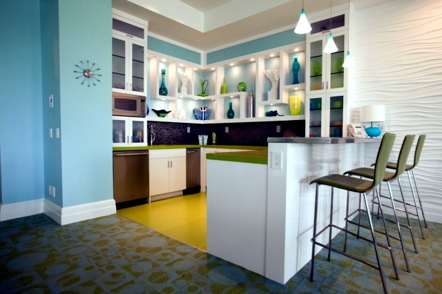 kitchen design with color - 20 ideas and interesting things