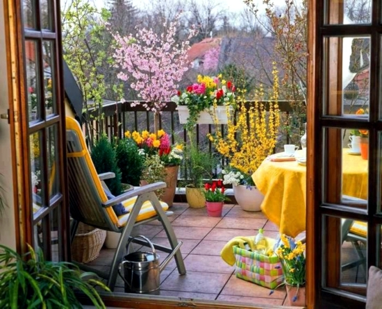 Balcony In Summer Colorful Decoration Ideas For Outdoor