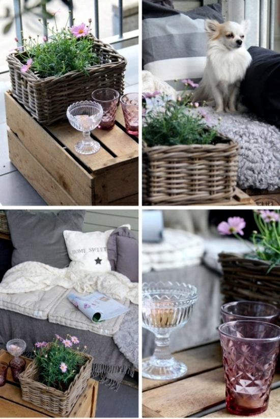 Balcony in summer - colorful decoration ideas for outdoor