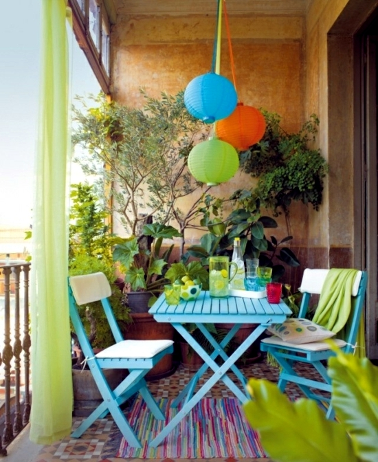 Balcony in summer colorful decoration ideas for outdoor for Outdoor summer decorating ideas