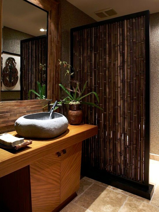 24 ideas for decorative bamboo poles - How bamboo is used in the room?