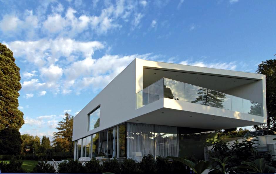 Floating facade interior design ideas ofdesign for Architecture oblique