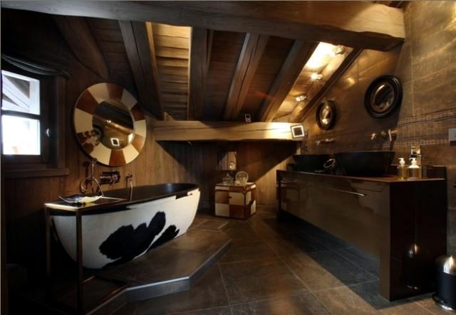 Badezimmer Chalet Stil - Design