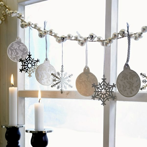 Silver decoration for the Christmas festival - pure glitz and glamor!