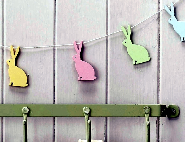 Easter decoration crafts - 20 ideas for fresh garlands for the nursery