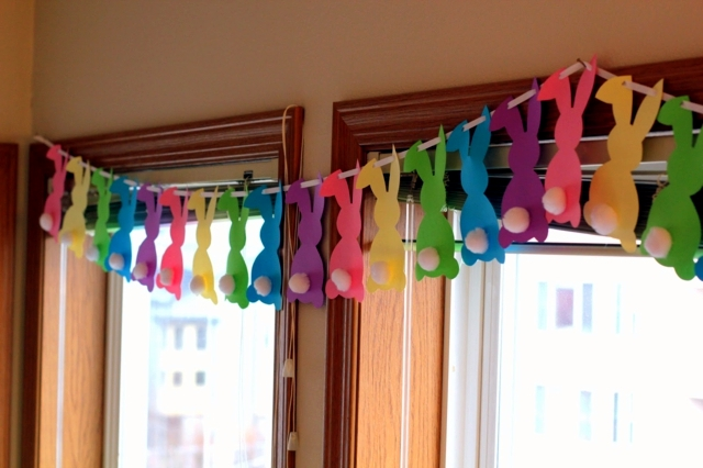 Great Easter Decoration Crafts   20 Ideas For Fresh Garlands For The Nursery