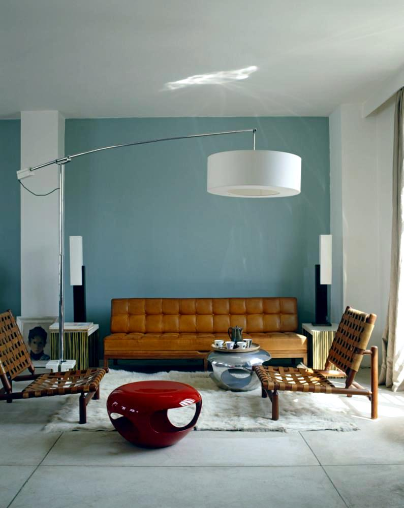 Modern living room in retro style interior design ideas for Modern vintage living room