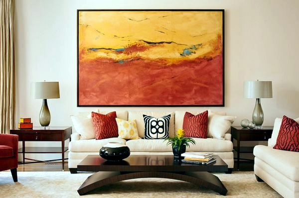 Use Abstract Art As Decorative Items For The Modern Home Interior Design Ideas Ofdesign